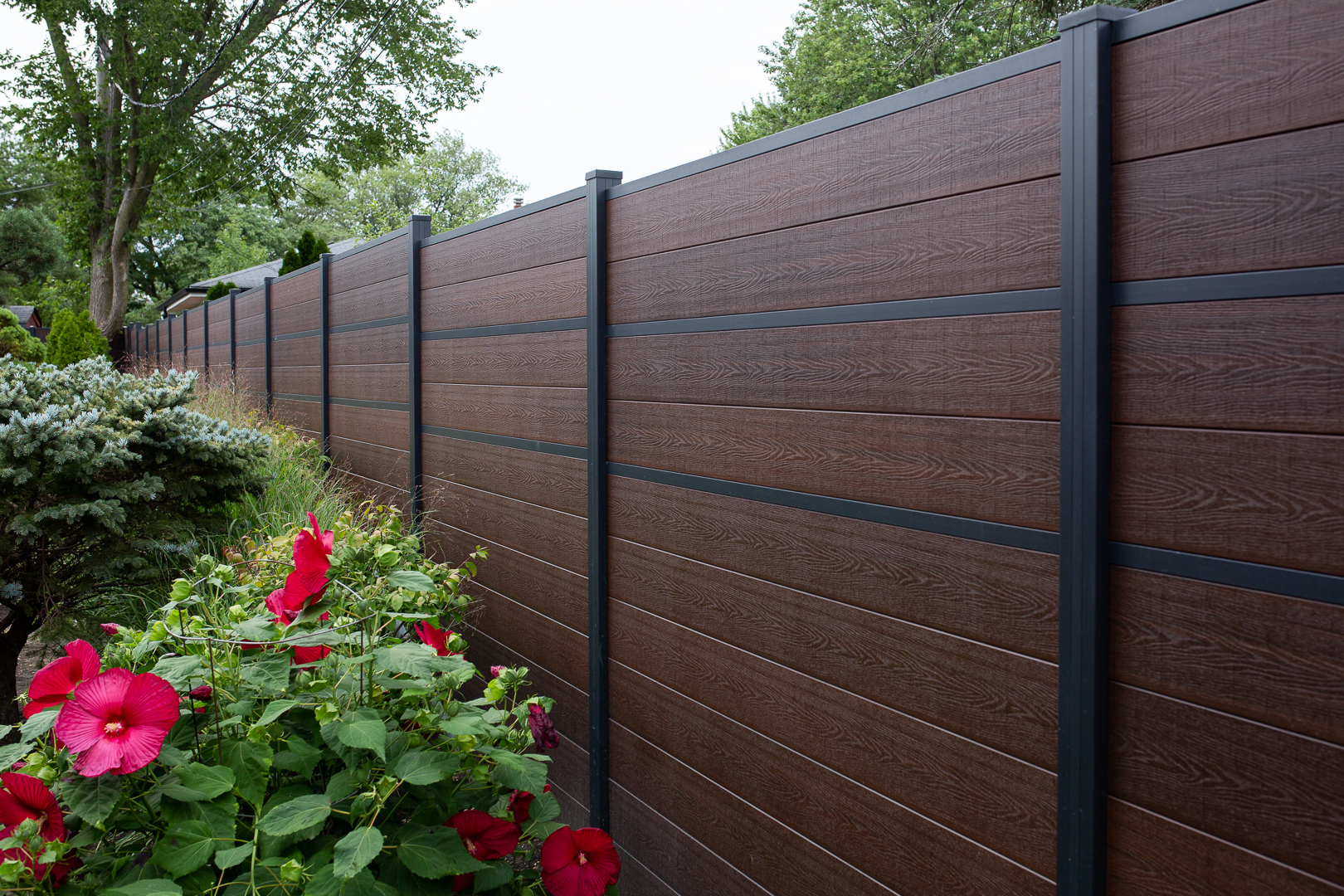 wpc wood plastic composite fence modern euro fences chicago